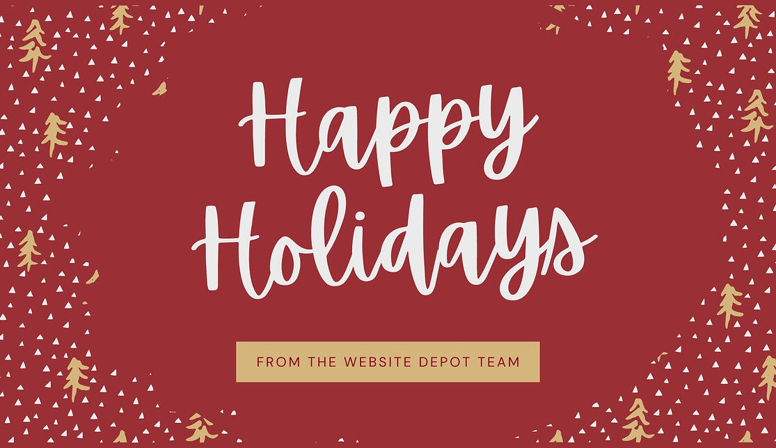 happy holidays from the website depot team